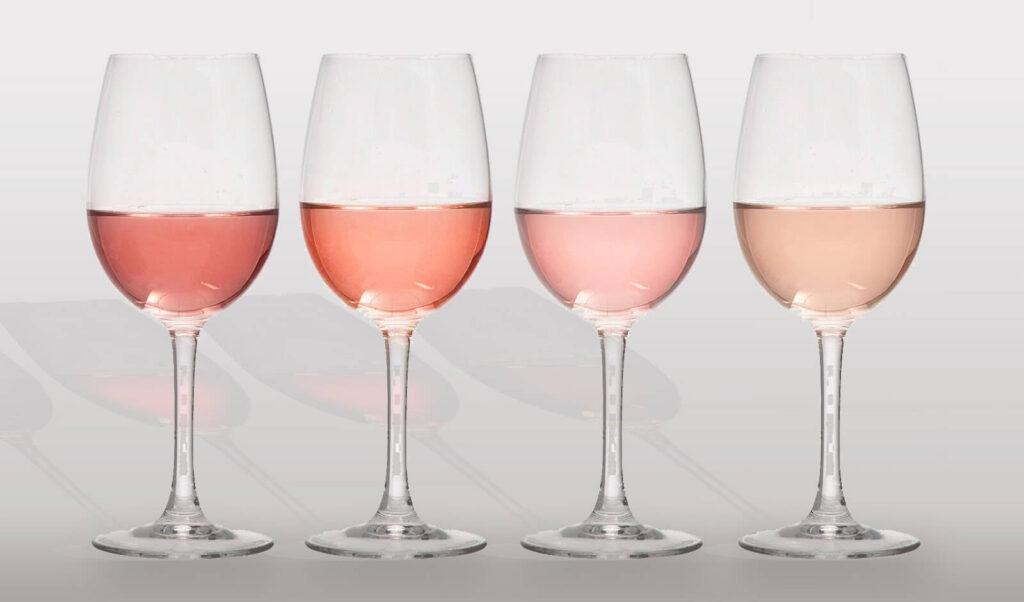 Цвет розовых вин