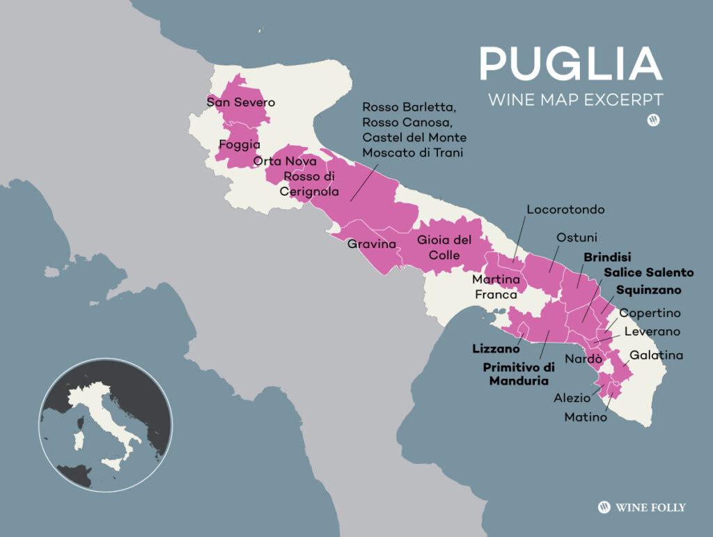 Карта Апулии